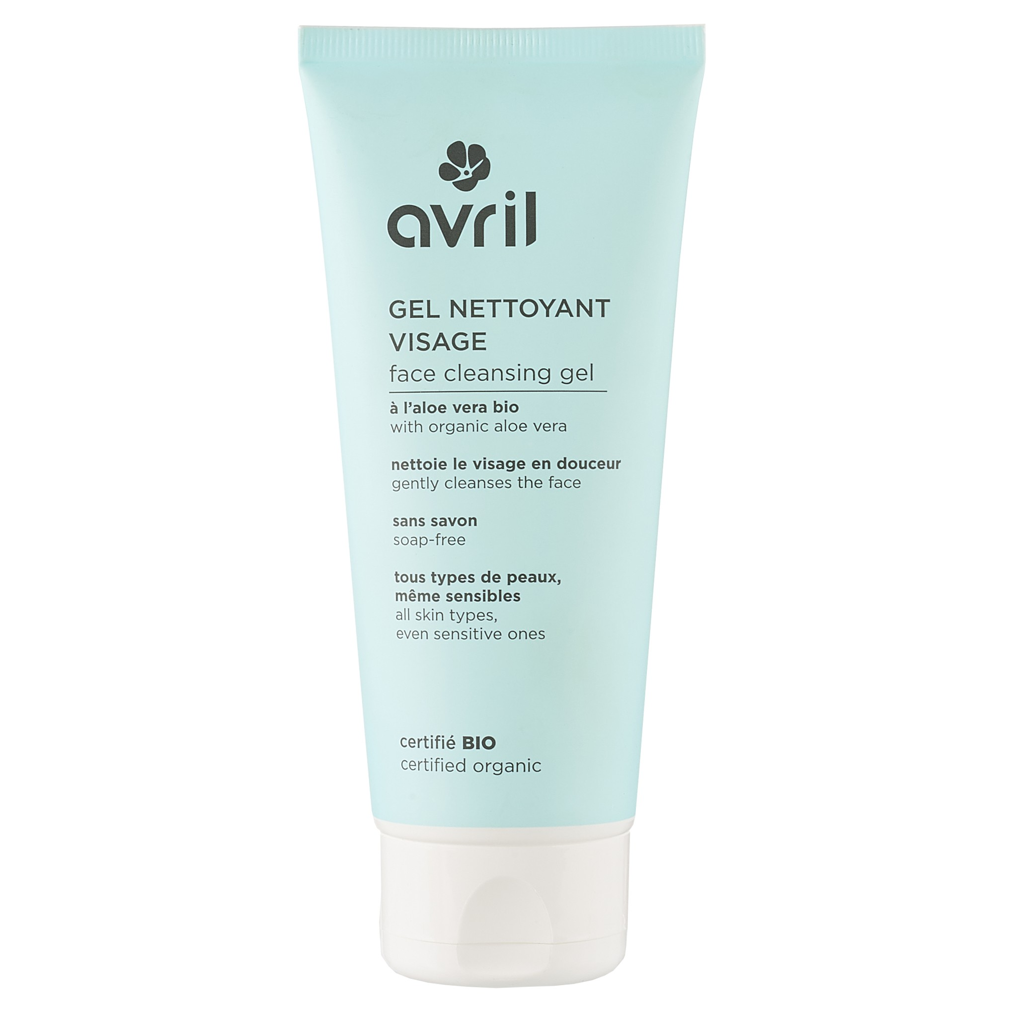 Organic Make Up Removers Removal Avril Ovale Cleansing Gel Aloe Vera 100ml Certified