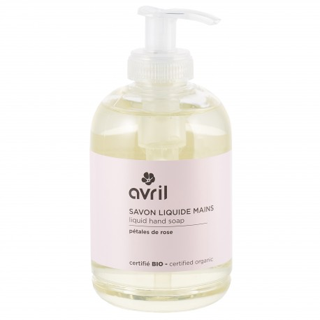 Organic liquid hand soap Pétales de Rose