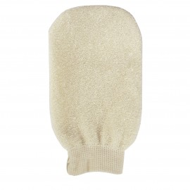 Organic linen massage glove