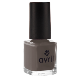 Nail polish dark grey Bistre