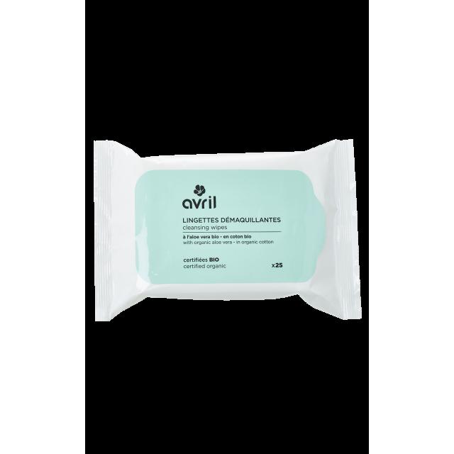 Lingettes démaquillantes x25 - Certifiées bio par Ecocert