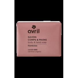 Body & hand soap Framboise  100g - Certified organic