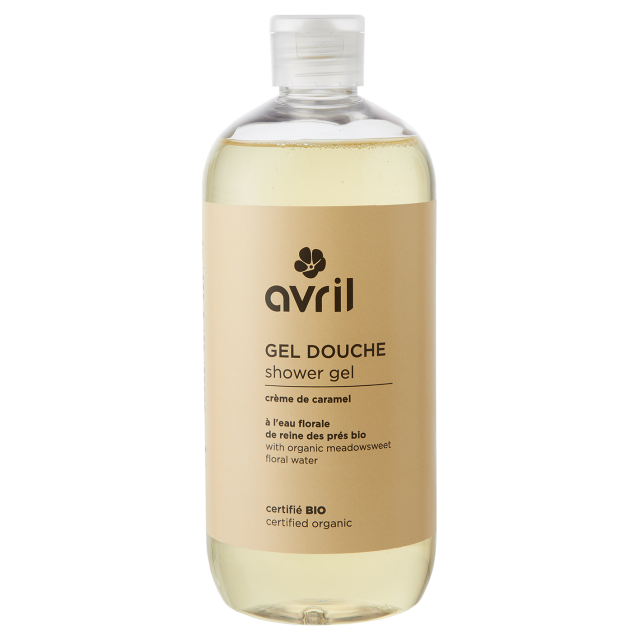 Organic shower gel Crème de caramel