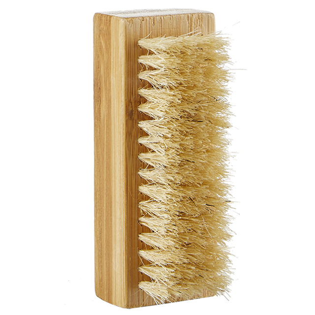 Large nail brush in bamboo
