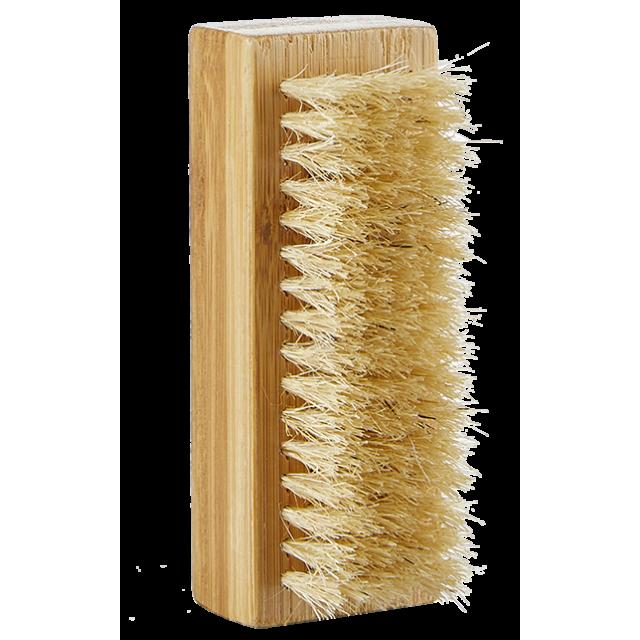 Large nail brush in bamboo