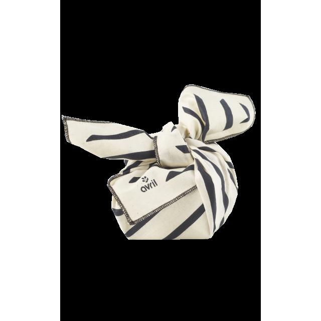 Furoshiki Zèbre 32 x 32 cm  Organic cotton
