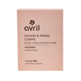 Body cold process soap Exfoliating  100g - Certified organic