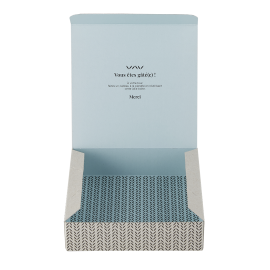 Avril small gift box Feuillage Bleu