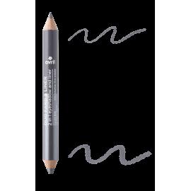 2 in 1 eyeshadow & liner Ardoise/Gris métallisé  Certified organic