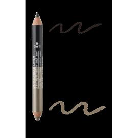 2 in 1 eyeshadow & liner Charbon/Grège nacré  Certified organic