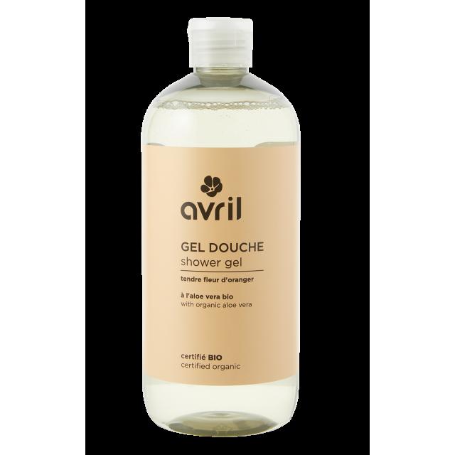 Shower gel Tendre Fleur d'Oranger  500ml - Certified organic
