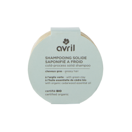 Greasy hair cold-process solid shampoo 100g - Certified organic