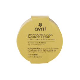 Dry and damaged hair cold-process solid shampoo 100g - Certified organic